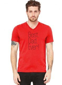best dad ever t shirt design 16 V-Neck Tee