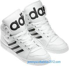 outlet store 18bc0 d05f4 Jeremy Scott Adidas Instinct Hi White Black Leather V24530 Spring 2012  Adidas Boost, Adidas High