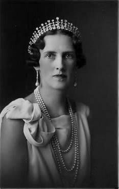 Princess Irene of Greece and Denmark.  (2/1904-4/1974) Fifth child and second daughter of King Constantine I of Greece.  Married Prince Aimone, Duke of Aosta to become - Her Royal Highness The Duchess of Aosta.   (1904-1974)