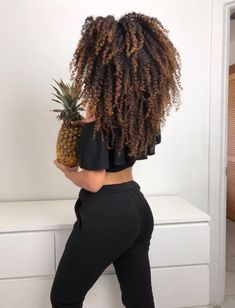 Long Natural Hair, Long Curly Hair, Big Hair, Curly Hair Styles, Natural Hair Styles, Cabelo 3c 4a, Highlights Curly Hair, Coily Hair, Hair Game