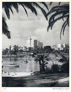 MacArthur Park Lake, This is California - 1957