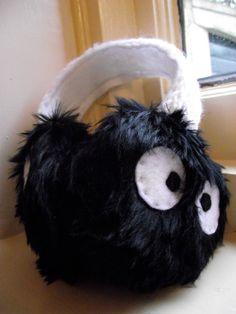 Soot Sprite Earmuffs Ear Muffs Spirited Away Totoro by Snaarlz,