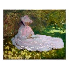 Claude Monet Springtime Impressionism Painting Poster - diy cyo customize create your own personalize