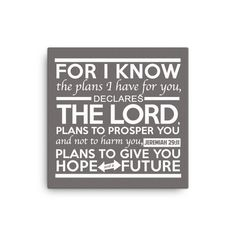 Jeremiah 29 11 Wall Art for i know (jeremiah 29:11) | products