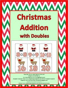 Christmas Addition with Doubles Matching Activity / Game