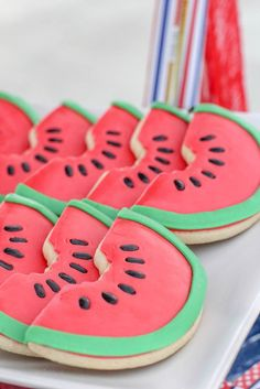 Love these watermelon cookies! Glorious 4th of July Party {Ideas, Decor, Planning, Styling}