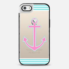 Pink and Blue Nautical Love Transparent iPhone 5S Metaluxe Case by Organic Saturation | Casetify Get $10 off using code: 53ZPEA