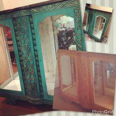 Reciclagem de móveis... dando uma cara nova para minha cristaleira