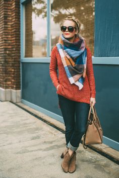"""There's no rule that says you have to wear fall colors in the fall, or summer colors during the summer. But I think it's great to stay """"in season"""" with your wardrobe if you can. Sometimes bright colors or pastels can look odd during the fall, because we're not used to seeing those hues thisContinue Reading..."""