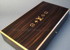 Authentic Louis Vuitton Cigar Humidor Mahogany Box ......for him!..... one of my anniversary presents