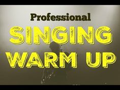 pro singing exercises west end vocal warm up Learn Singing, Singing Lessons, Singing Tips, Vocal Lessons, Singing Warm Ups, Voice Warm Ups, Vocal Warm Up Exercises, Singing Exercises, Singing Training