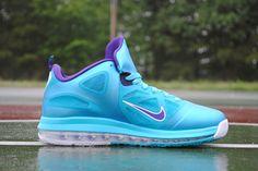 nike lebron 9 low turquoise blue/court purple