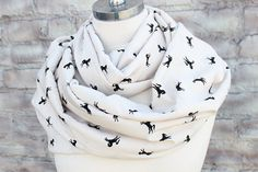 Love this.  Etsy listing at https://www.etsy.com/listing/176215888/horses-print-infinity-scarf-for-woman