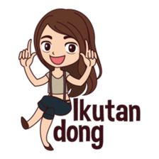 Hello, my name is Luella and I am very curious girl, I want to know every particular object that exist in the world, because it's make me happy! Cartoon Jokes, Girl Cartoon, Pray Quotes, Funny Quotes, Love Cartoon Couple, I Want To Know, Funny Stickers, Line Store, Line Sticker