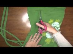 Recycled T-shirt into an infinity Scarf   No Sewing, No knitting So easy and cool!  @Pink Cricut