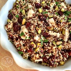 Cherry-Pistachio & Chicken Quinoa Salad