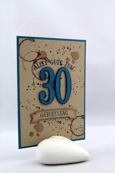 Geburtstag - Stampin Up Timeless Textures, So viele Jahre, ein Designerstück von StempelLeo bei DaWanda