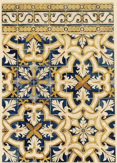 The interior of the Marvilla church in Santarem (Portugal) is covered with azulejos. The most interesting date from 1620 and 1635, these are azulejos knows as tapete (carpet style) with multicoloured plant motifs. These motifs are seen in still extant tiles in Portuguese Macau, as well as many towns in (island) Southeast Asia.