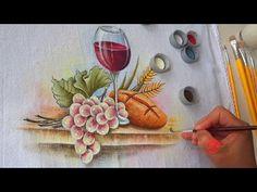 """Como pintar um galho de uvas com folhas. Projeto gratuito """"A parreira"""". Aula 1 - YouTube"""