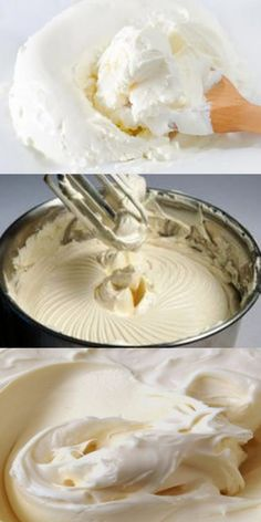 Cream for cakes that will take your desserts to the next level! Gourmet Recipes, Baking Recipes, Dessert Recipes, Desserts, Curd Recipe, Dessert Decoration, Russian Recipes, Cream Recipes, Easy Cooking