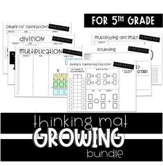 Math Thinking Mat Growing Bundle Guided Math Planning Math Guided Math