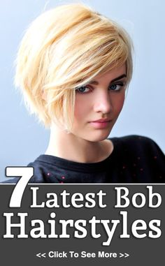 7 Latest Bob Hairstyles