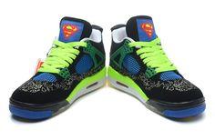 Superman Air Jordan 4 Doernbecher Retro DB Black Green Adult Sneakers