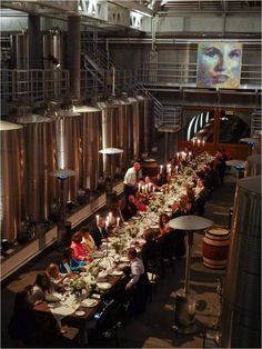 Napa Chic dinner event in the Winery at Cliff Lede Vineyards, Yountville, CA