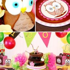 """""""Look Whooo's One"""" Owl Themed Birthday Party ideas"""