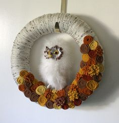 White Owl Wreath Autumn Wreath Halloween by TheBakersDaughter, $47.00