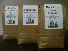 Freshly roasted Gridlock Coffee beans