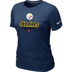 Women's Nike Pittsburgh Steelers Critical Victory NFL T-Shirt Dark Blue