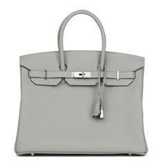 Birkin 35 leather tote Hermès Grey in Leather - 6335652 Hermes Birkin 6667081852eb7