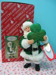 New Irish Santa Clothtique Possible Dreams Luck Of The Irish In Box 2009 Retired