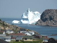 Twillingate, NL, Canada Gigantic Iceberg - imagine waking up to this scene Newfoundland Icebergs, Newfoundland Canada, Newfoundland And Labrador, Chrysler Building, Vancouver, Road Trip, Atlantic Canada, O Canada, Belle Villa