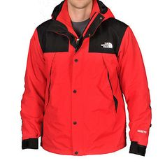 North Face Mountain Denali Triclimate Red Gore-Tex Jacket Mens A35Q-KZ3 Size S