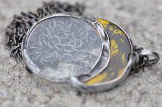 loupe pendant loupe necklace ceramic necklace by zolanna on Etsy