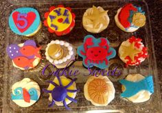 Cakie Sweets Under the Sea themed cupcakes with fondant. Check out our other creations at www.CakieSweets.weebly.com