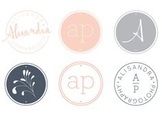 Alisandra photography branding by  threefifteendesign.com. Really like the grey and pink pastel colours. - Inspiration for personal branding