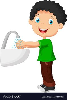 Boy washing his hands on a white background Vector Image Body Preschool, Preschool Activities, Hygiene, Birthday Photos, Adobe Illustrator, His Hands, Kids Education, Pre School, Illustration