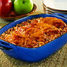 Picante Chicken & Rice Bake