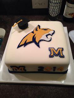 MSU Bozeman Bobcat cake