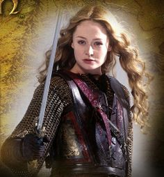 Lady Eowyn wielding a sword. This is who I want to be when I grow up - strong and using the sword of the Spirit.