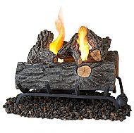 "18"" Convert-to-Gel Log Set - Oak Finish"