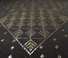 Palm Frond Pattern inserted into a diamond.  Vintage Assiut (assuit) shawl c. 1920's.  www.davina.us