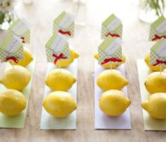 Segnaposti con i limoni