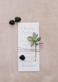Blackberry infused wedding paper good: http://www.stylemepretty.com/2017/03/17/berry-palette-san-ysidro-ranch-wedding/ Photography: Joel Serrato - http://joelserrato.com/