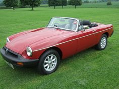 my 1st car !!  1978 MGB Roadster Damask Red