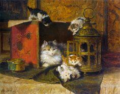 Henriette Ronner-Knip (Dutch, 1821-1909)