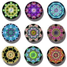 New Mandalas 1 Inch Digital Circles 48 Different by DigitalArtMart